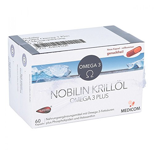 Nobilin Krillöl Omega 3PL Kapseln, 2X60 St