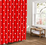 LINGCURTAIN Duschvorhänge Polka Punkt Stoff für Badezimmer Dusche Vorhang 36