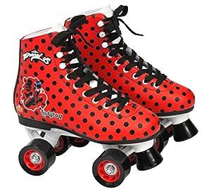 Ladybug- Patín Bota, Color Rojo y Negro, Talla 33 (Saica 5836)
