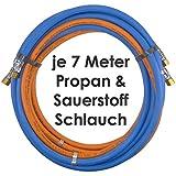 Propan Sauerstoff Gasschlauch Zwillingsschlauch 7 Meter - Semperit Profi Gummischlauch zum autogen schweißen oder schneiden - Semperit Profiqualität von Gase Dopp
