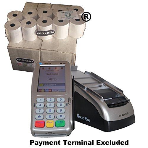 EPOSBITS® Markenrollen für Verifone VX-820 Duet VX820 Kreditkarten-Terminal, 40 Rollen (Duet-Versionen)
