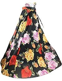 56d9091459 Mujeres Bohemio pintura china pluma de pavo real playa Fiesta partido maxi  Largo Falda plisada Skirt