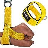 1 Stück Einhand Kabelzug Griffe / Trainings Griff / Latzug Einhandgriff GELB