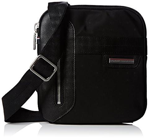 Tommy Hilfiger Mens Lightweight Crossover Wallet Black (Nylon Mens Sneakers)