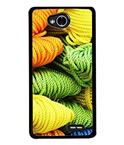 Snapdilla Designer Back Case Cover for LG L70 :: LG L70 Dual (Texture Illustration Handmade Radium Backcase Pouch )