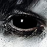 Leo Eyes Funlinsen Black Sclera-Markenqualität- 1 PAAR-D-22mm-Halloween Kontaklinsen Schwarze,Cosplay, LARP, Zombie, Crazy Fu