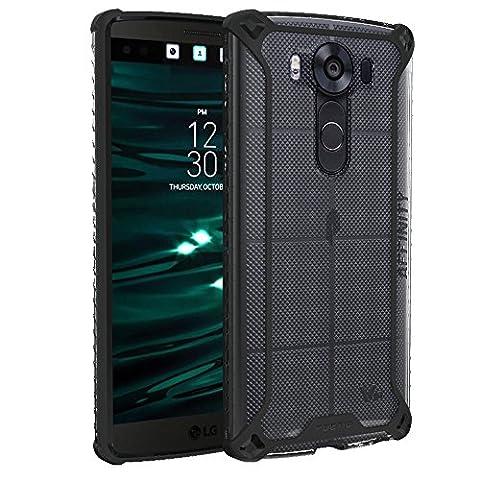 Coque LG V10 – Poetic [Série Affinity] Coque LG V10 – [Adhérence TPU au devant] [Protection au Coin] Coque Protecteur Hybride pour LG V10 (2015) Clair/Noir (Garantie de 3 Ans du Manufacturier de