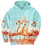 Aloha from Deer® | Flamingos Sweat à capuche | Unisexe | Full print | Imprimé | Impression All-over | Multicolore | Printemps | Été | 2017