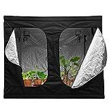 Binghotfire Growzelt Growbox Growschrank Gewächszelt Water-Resistant Hydroponische Grow Zelt für Indoor Sämling Pflanzenbau Auswahlbar (Growzelt & 240 X120 X 200CM)