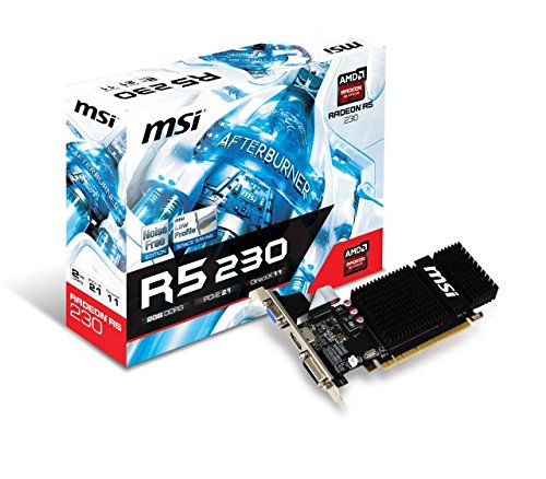 MSI R5 230 2GD3H Carte graphique ATI Radeon 625 MHz 2048 Mo PCI-Express