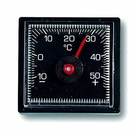 Auto-Thermometer schwarz, quadratisch