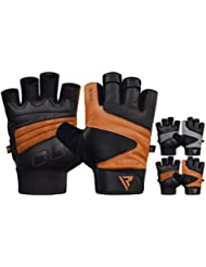 RDX Weight Lifting Gloves Gym Fitness Crossfit Workout Bodybuilding Powerlifting Cowhide Leather Breathable Wrist Support Strength Training Exercise