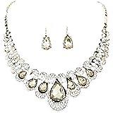 Collana Moda! Keattl donna lusso perle regalo girocollo cristallo bella...