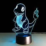 3D LED Illusion Light 7 couleurs Dimensional Basketball Light, Veilleuses optiques, Décoration d'ambiance de lampe de table, Cadeaux d'anniversaire pour enfants, Pokemon Go Rêve...