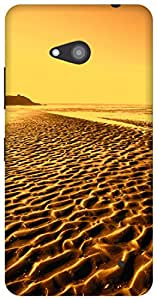 The Racoon Grip By The Beach Gold hard plastic printed back case / cover for Microsoft Lumia 640