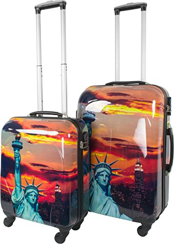Trolley-Kofferset Ultra-Light mit 4 Rollen, 2tlg. Farbe Statue Of Liberty