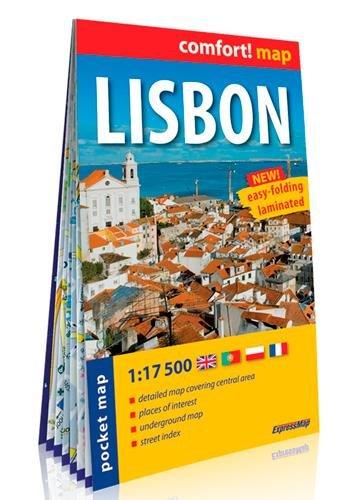 Lisboa, plano callejero plastificado de bolsillo. Escala 1:17.500. ExpressMap. (Comfort ! Map) por VV.AA.