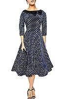 Black Butterfly 'Iris' 50's Polka-Dots Kleid mit besetztem Ausschnitt