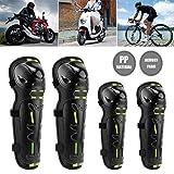windyday 4Pcs Moto Protectores De Rodilla Y Coderas Adultos Motocicleta Almohadillas De Protección para Motocross Patinaje Patines Scooter Bicicleta