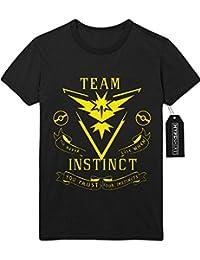 T-Shirt Pokemon Go TEAM INSTINCT Hype Kanto X Y Nintendo Blue Red Yellow Plus Hype Nerd Game C123127