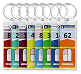 Cruise Luggage Tag Holders Slim (8 Pack) Cruise Essentials Baggage Tag Holder with Zip Seal & Steel Loops - Travel Vacation Accessories - Cruise Necessities - Celebrity Cruise - Royal Caribbean