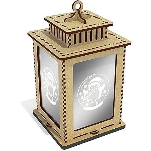 'Penguin Snow Globe' Mirrored Candle Lantern / Tea Light Holder