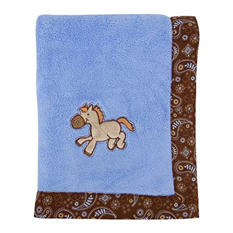 Trend Lab Cowboy Baby Framed Receiving Blanket,