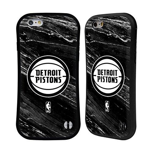 Ufficiale NBA Camouflage Digitale Detroit Pistons Case Ibrida per Apple iPhone 7 / iPhone 8 Marmo B&N
