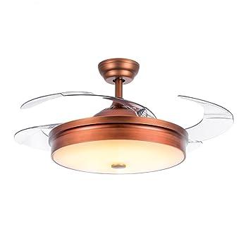 MMYNL Modernes Minimalistisches Unsichtbare Decke Ventilator Lampe Fans Fr Wohnzimmer Restaurant Schlafzimmer Home LED Braun Dimmbar