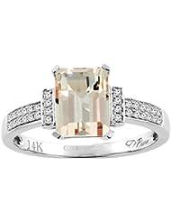 Revoni 14ct oro colgantes Natural anillo de 8 x 6 mm diamantes charreria
