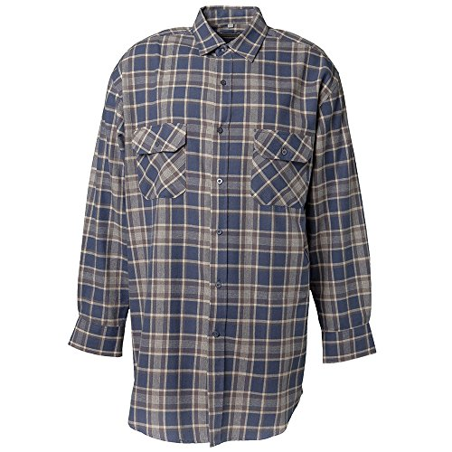 """Preisvergleich Produktbild Planam Flanell-Hemd """"2000"""" Größe 45/46, XXL, blau kariert, 440045"""
