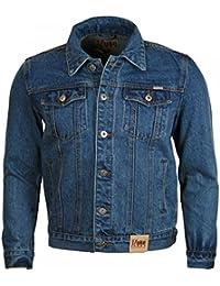 Duke Denim Trucker Jacket Blue Mens Small
