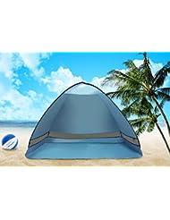 azlife portable Anti UV 3–4personne Pop Up Tente Abri Soleil de plage avec sac de transport (Bleu)