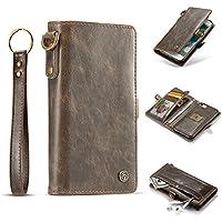 iPhone 7 Hülle und Brieftasche,HYYGEDeal herausnehmbare Schutzhülle Flip Fold Wallet ID Kartenhalter Leder Case für Apple iphone 7 4.7inch (braun)