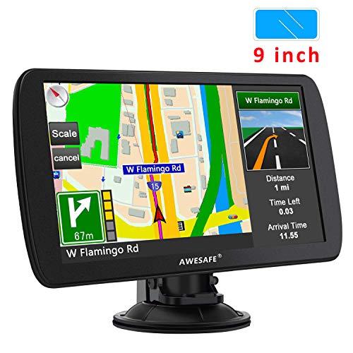 GPS para Coche con Pantalla Táctil HD de 7 Pulgadas Reproductor Multimedia Navegador GPS con Mapa de Europa