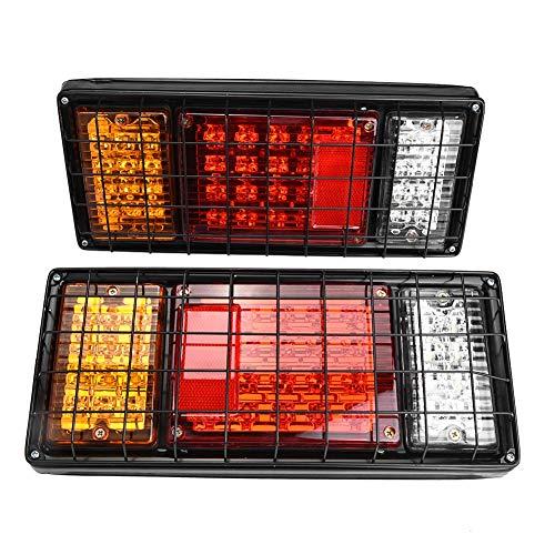 Luce per Rimorchio a LED,Fanale Posteriore auto,2PCS 40 LED Luci di Stop Fanali Posteriori in Ferro Netto Indicano Lam