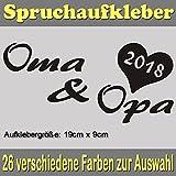 Oma & Opa 2018 Spruch Styling Tuning Auto Sticker Aufkleber_SPR-032 (022 shellgelb)