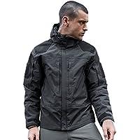 Libre Soldado 3en 1chaqueta impermeable militar táctico chaqueta para hombre perchero de pared de cortavientos con forro extraíble, hombre, color gris, tamaño XL