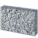 Jago Gabione | 150x100x30 cm, Silber, verzinkt, stapelbar, für Garten | Drahtkorb, Stein- Zaun, Korb, Wand, Stützmauer, Sichtschutz
