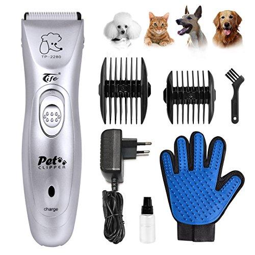 Magichome Schermaschine Tierhaarschneider Hund Katze Elektrische Haarschneidemaschine Leise Haustier Trimmer Tierschermaschine Rasierer Tierhaar