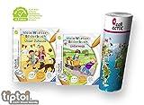 Collectix Ravensburger tiptoi® Bücher Set ab 3 Jahre | Mein Wörter-Bilderbuch: Unterwegs + Unser Zuhause + Kinder Wimmel Weltkarte