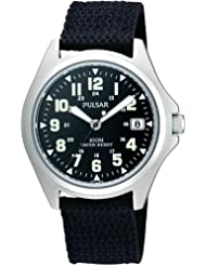 Pulsar PS9045X1 Men's Analogue Black Canvas Strap Watch