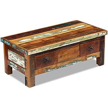 Tavolini Da Salotto Vintage.Festnight Tavolino Da Caffe Con Ruote In Legno Massello Di