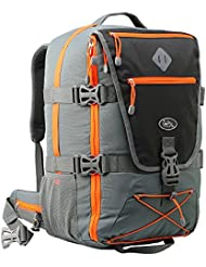 Equator Backpacking Flight Approved Backpack, with intergrated Rain cover, waist and chest straps.