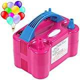 #8: Pramukh Enterprice Electric Air Balloon Pump, Portable Dual Nozzle Inflator/Blower for Party Decoration - 230V 600 W Rose Red