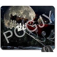 pogjy Tapis pour souris, Gaming Mouse Pad–Dimension 9.25x 7.75inches–Base antidérapante en caoutchouc–Traité spécial tissu tissu buon Natale