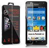 Cadorabo DE-106021 Huawei Ascend Y530 Verre de Protection d'écran trempé Dureté 9H avec Compatibilité 3D Touch Verre Transparent