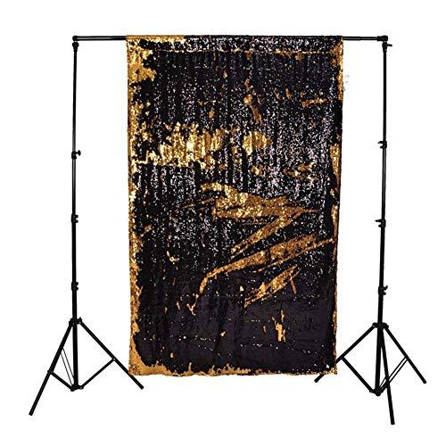 Kostüm Vorhänge - SparY Fotografie Hintergrund, Foto Hintergrund Vorhang Faltbar Kostüm Party Pailletten Schreibtisch Profi Fenster Hochzeit Automat Requisiten Geringes Gewicht - Gold, Free Size