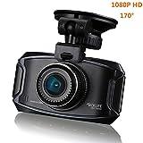 Tacklife 2,7' 1080P Auto Kamera 2304*1296 Dash Cam, 170° Auto DVR Amaturenbrett Kamera, Recorder Eingebauter G-Sensor Bewegungserkennung Loop Recorder Nachtsicht, 32GB Micro SD-Karte (nicht enthalten)