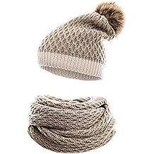 775ffc194dd64 HILLTOP - Ensemble d hiver de foulard d hiver et bonnet assorti Bonnet